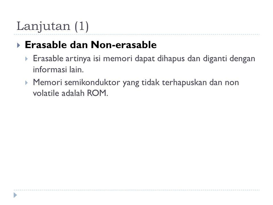 Lanjutan (1) Erasable dan Non-erasable