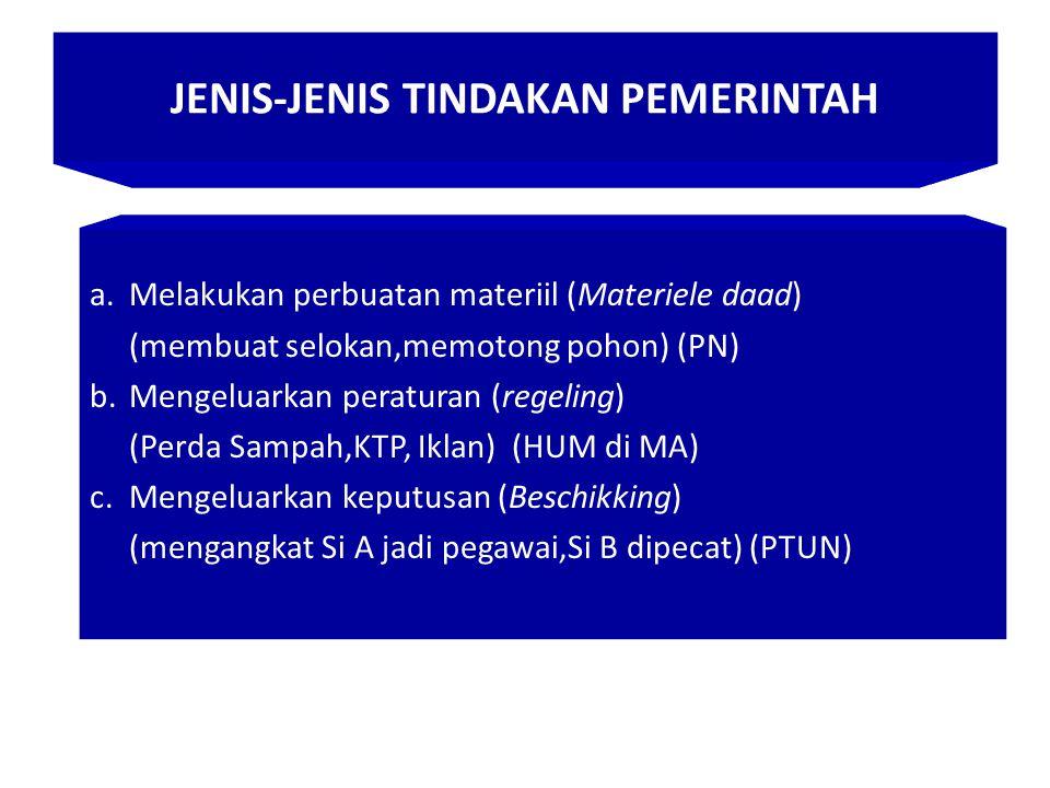 JENIS-JENIS TINDAKAN PEMERINTAH