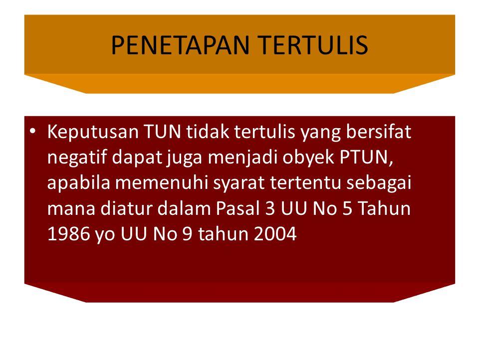 PENETAPAN TERTULIS
