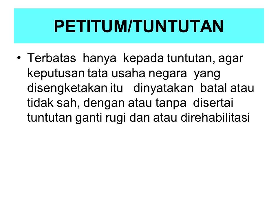 PETITUM/TUNTUTAN