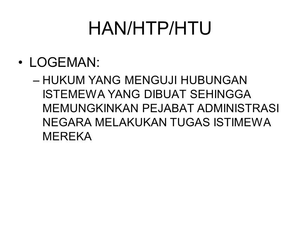 HAN/HTP/HTU LOGEMAN: