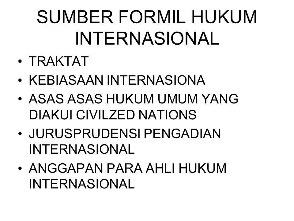 SUMBER FORMIL HUKUM INTERNASIONAL