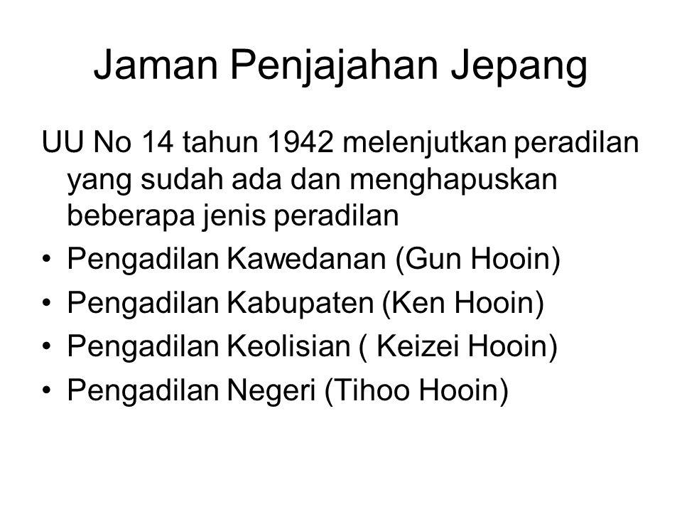 Jaman Penjajahan Jepang