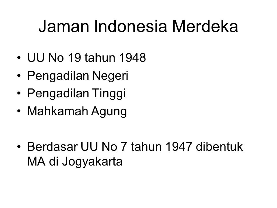 Jaman Indonesia Merdeka