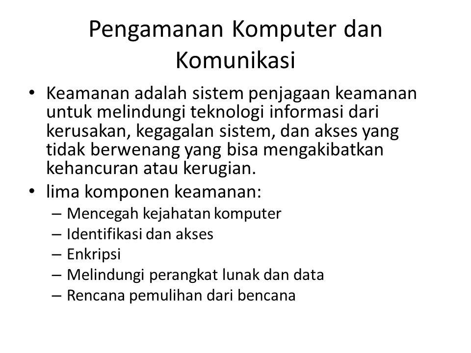 Pengamanan Komputer dan Komunikasi
