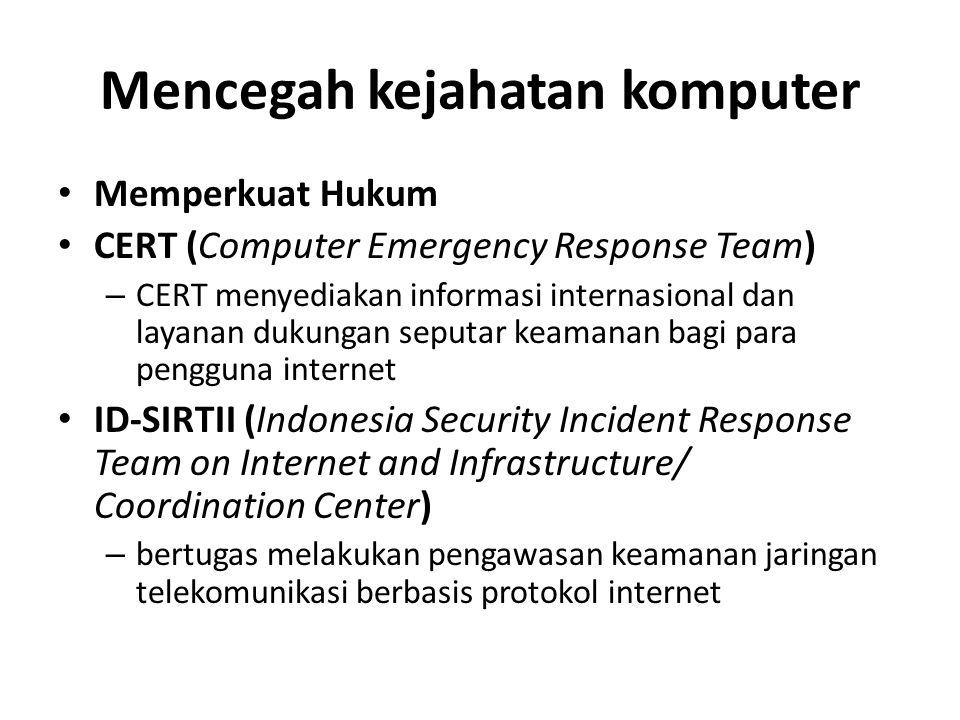 Mencegah kejahatan komputer