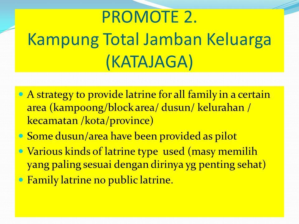 PROMOTE 2. Kampung Total Jamban Keluarga (KATAJAGA)