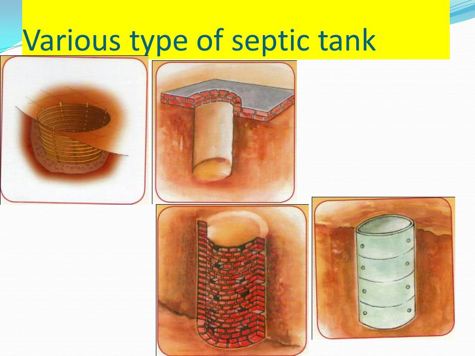 Various type of septic tank
