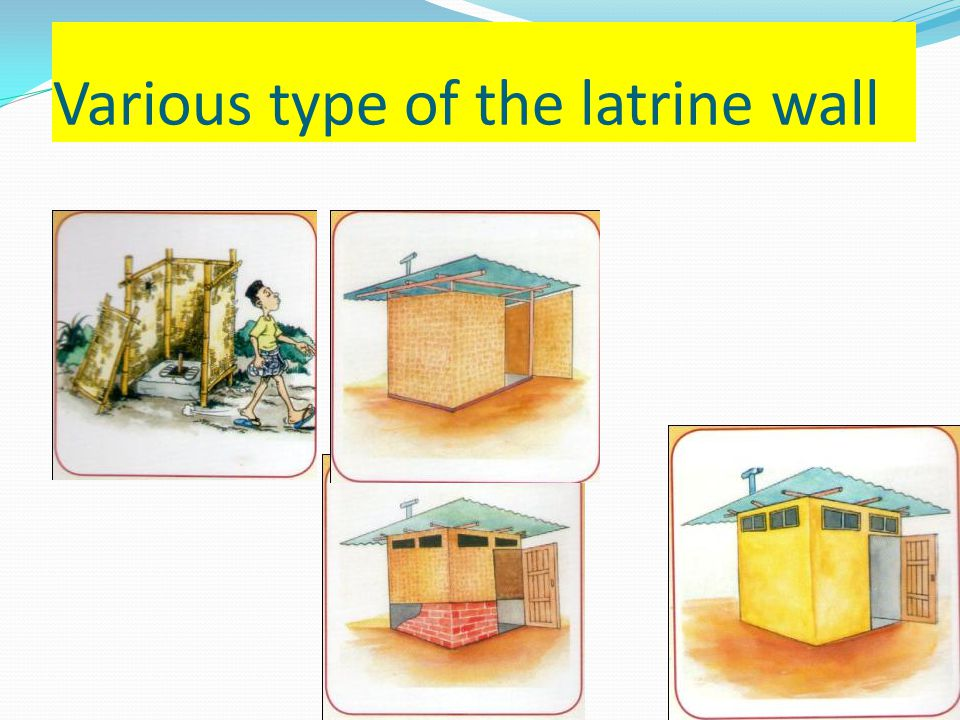 Various type of the latrine wall