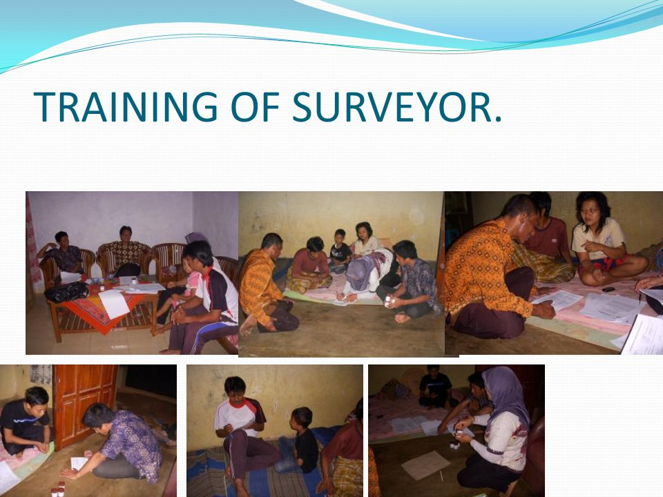 TRAINING OF SURVEYOR.