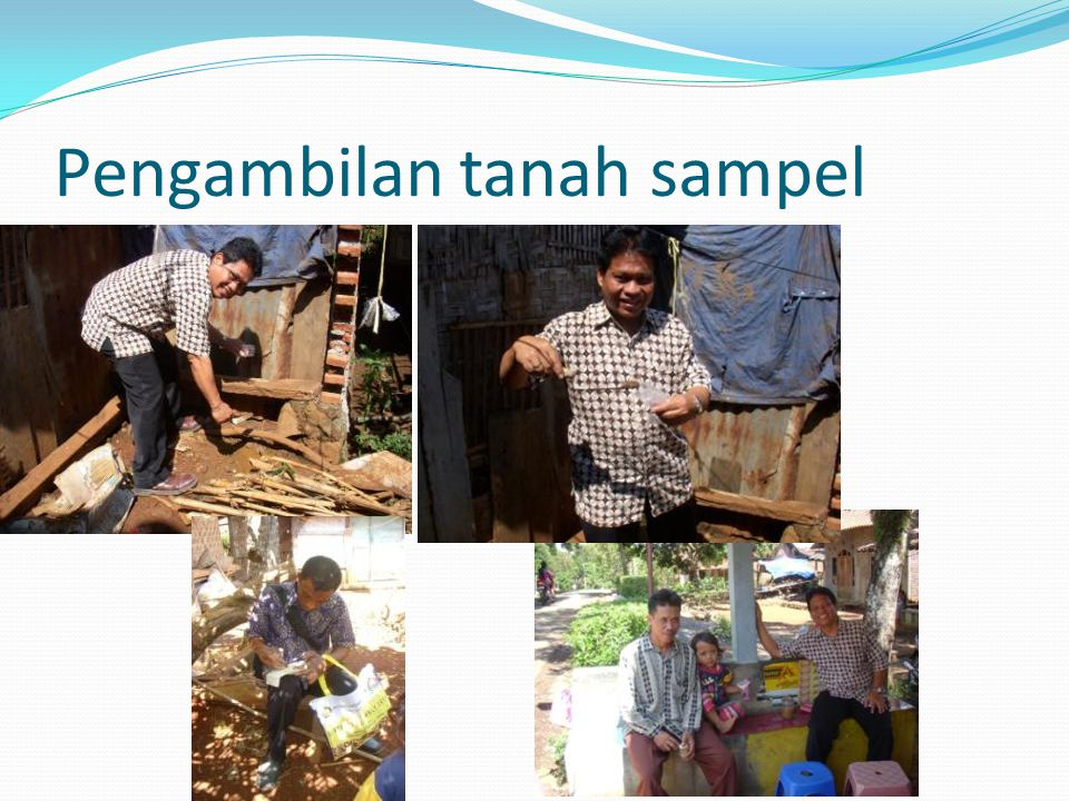 Pengambilan tanah sampel