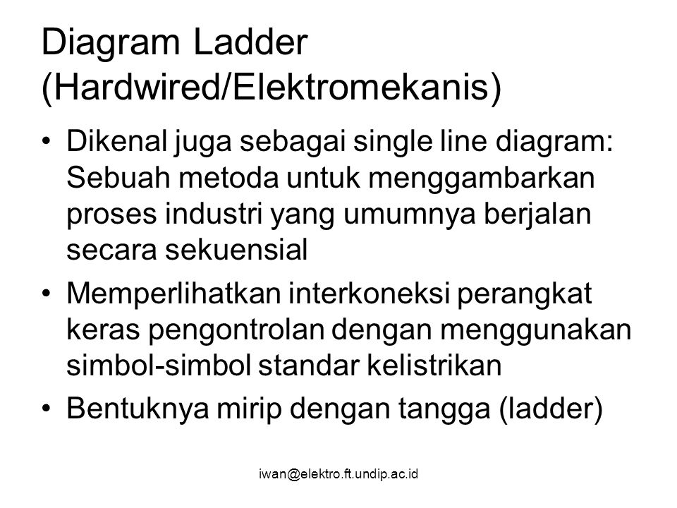 Diagram Ladder (Hardwired/Elektromekanis)