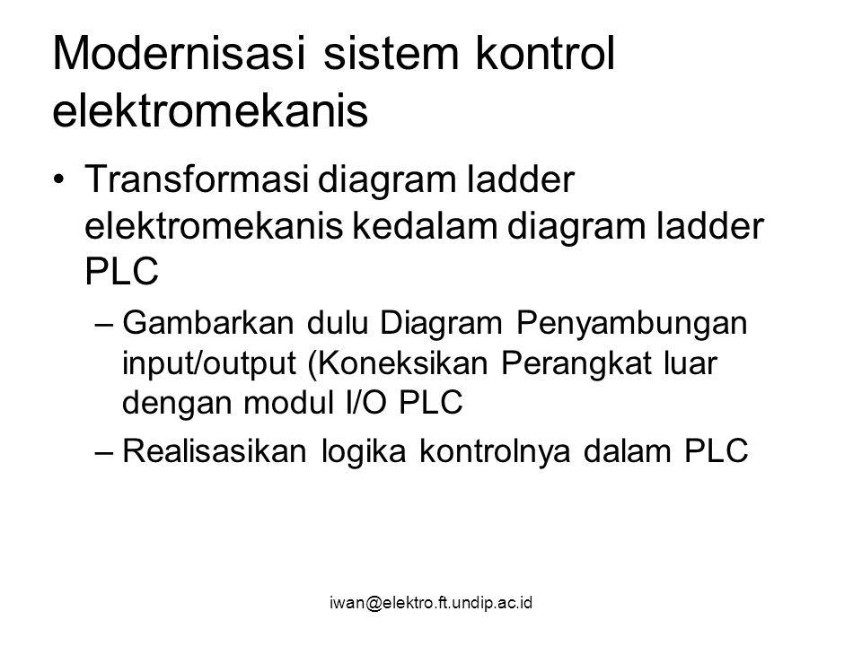 Modernisasi sistem kontrol elektromekanis