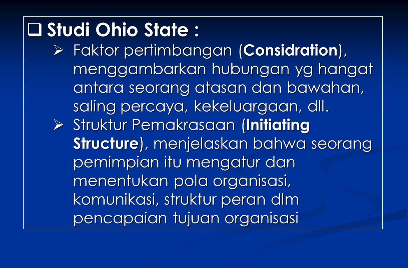 Studi Ohio State :