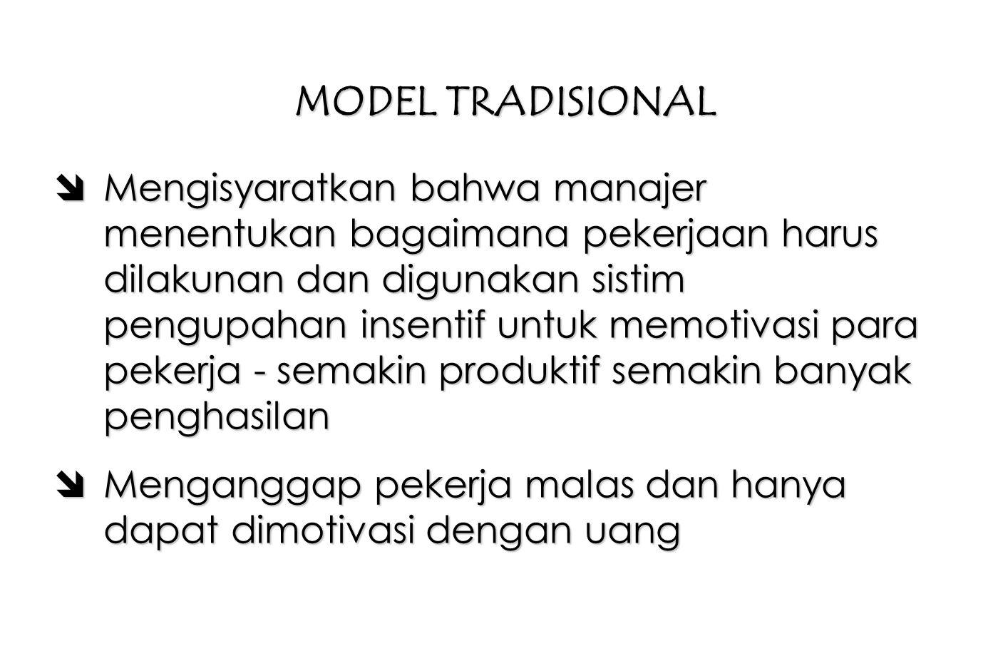 MODEL TRADISIONAL