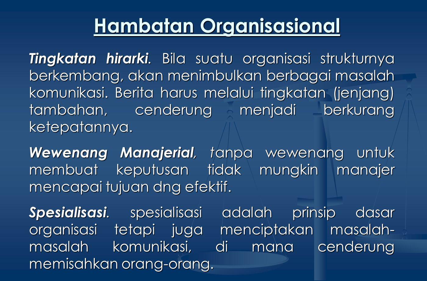 Hambatan Organisasional