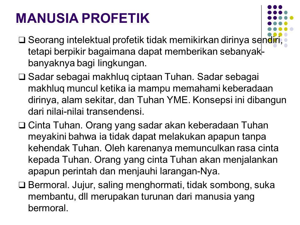 MANUSIA PROFETIK