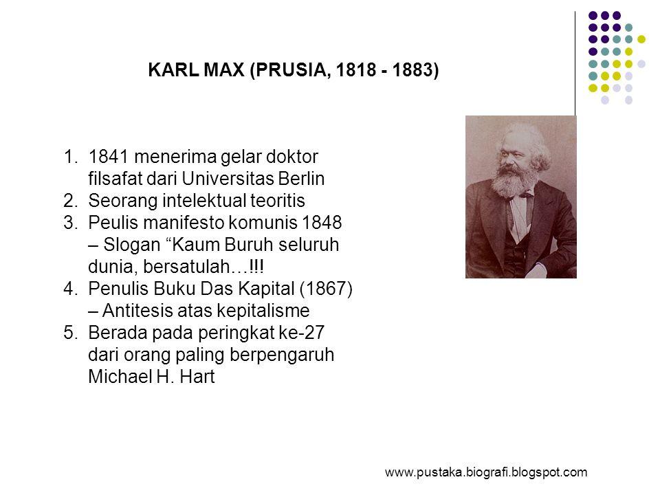 1841 menerima gelar doktor filsafat dari Universitas Berlin
