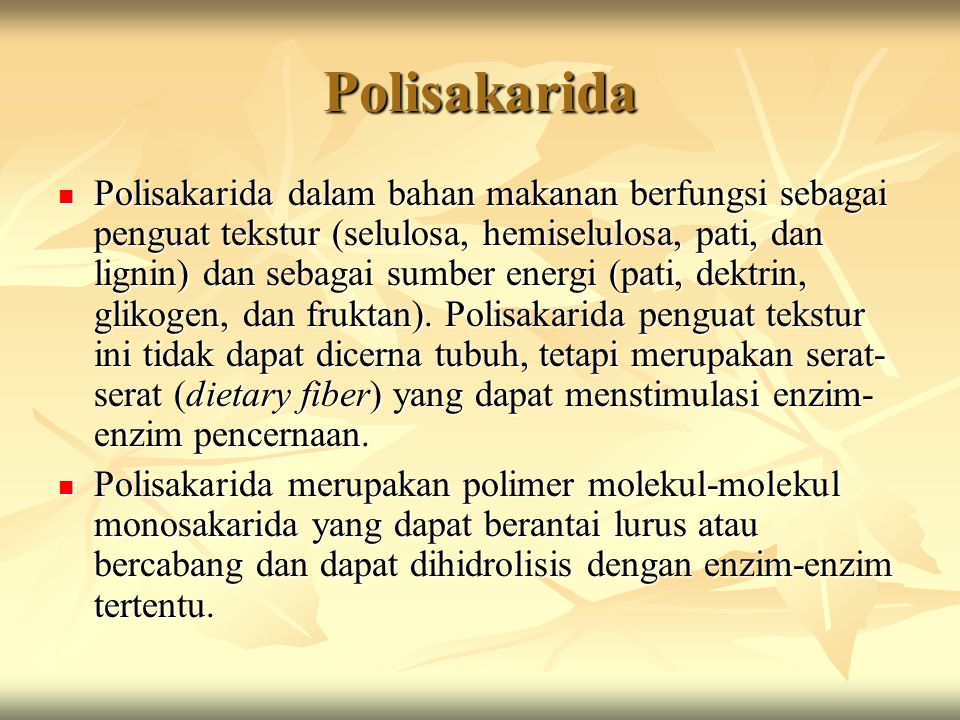Polisakarida