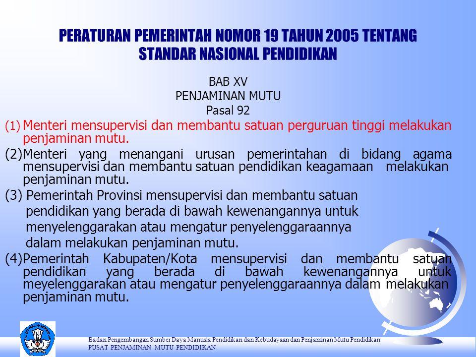 PERATURAN PEMERINTAH NOMOR 19 TAHUN 2005 TENTANG STANDAR NASIONAL PENDIDIKAN