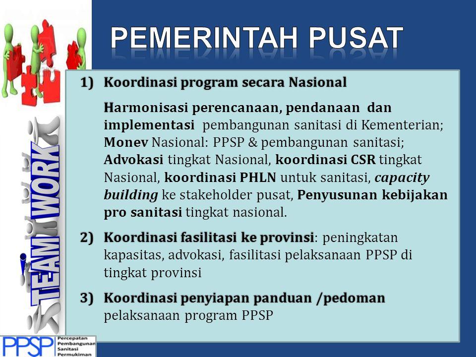Pemerintah Pusat Koordinasi program secara Nasional