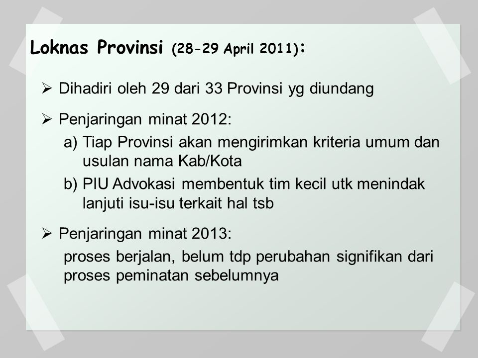 Loknas Provinsi (28-29 April 2011):
