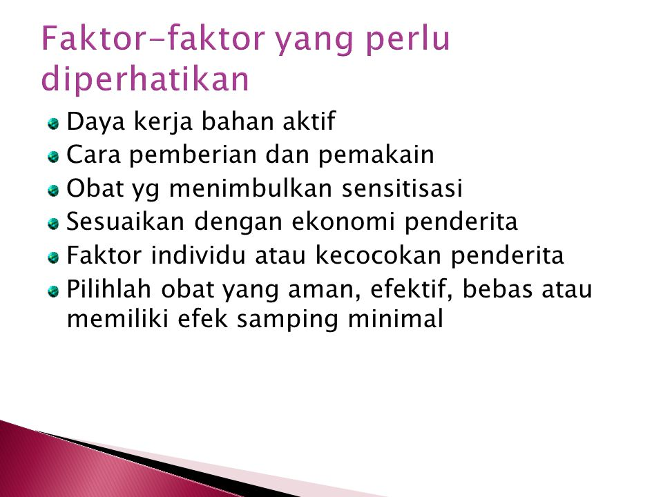 Faktor-faktor yang perlu diperhatikan