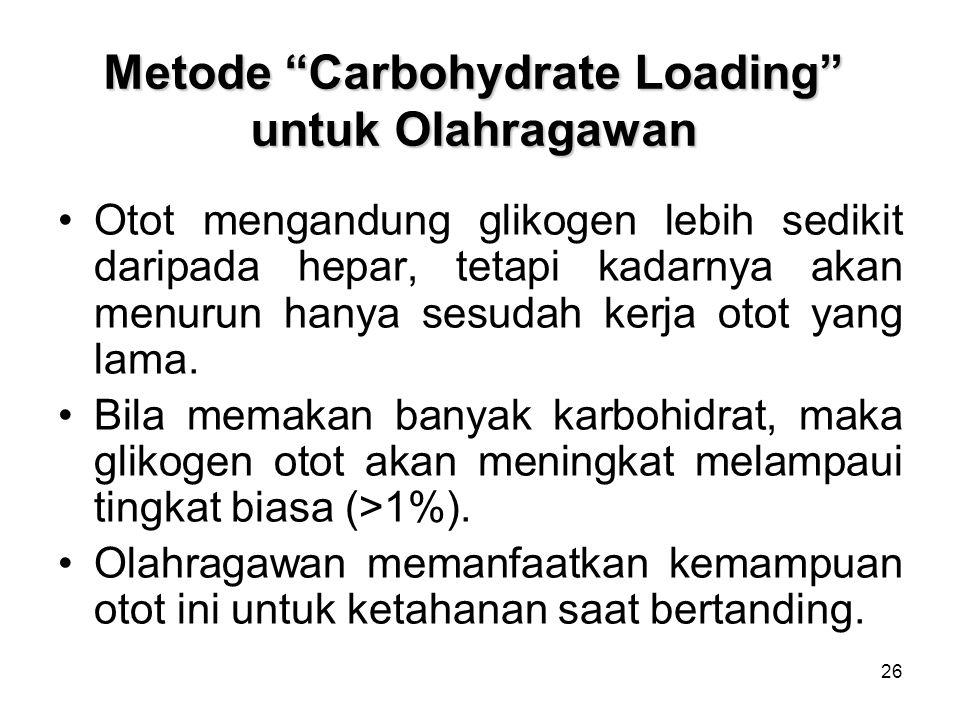 Metode Carbohydrate Loading untuk Olahragawan