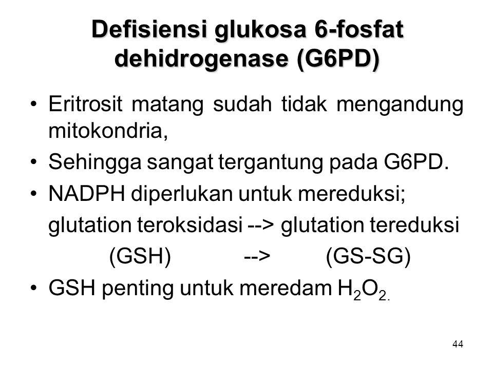 Defisiensi glukosa 6-fosfat dehidrogenase (G6PD)
