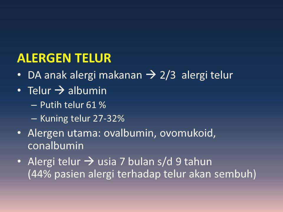 ALERGEN TELUR DA anak alergi makanan  2/3 alergi telur