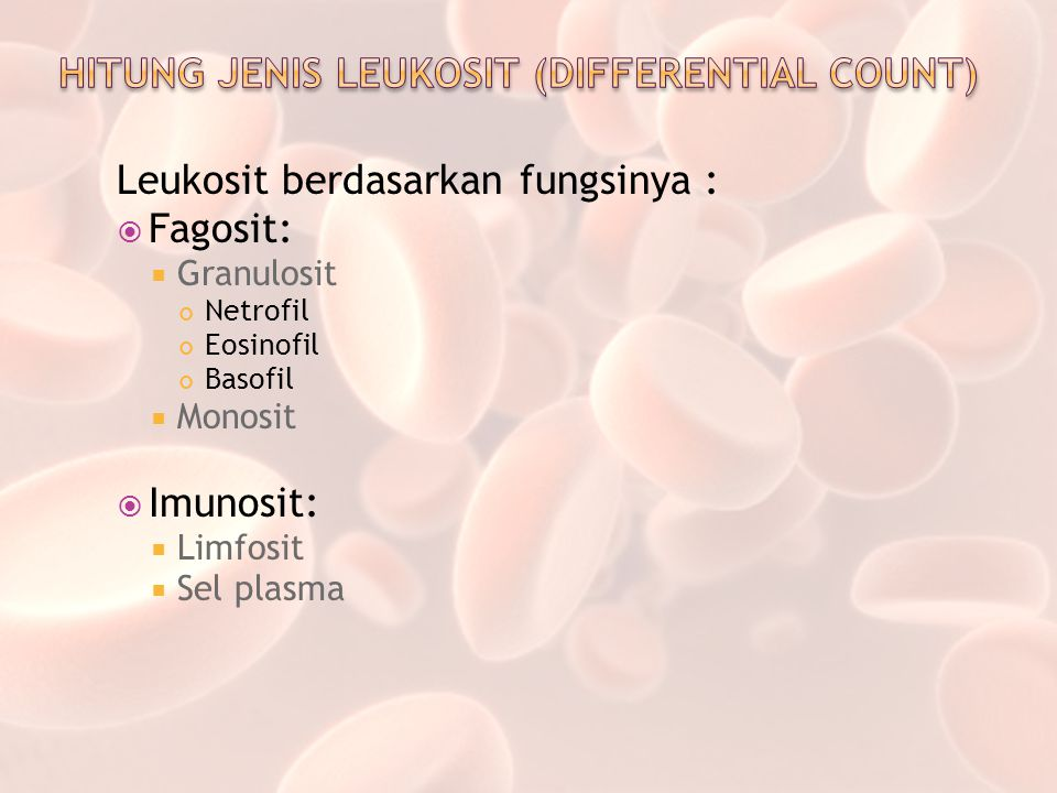 HITUNG JENIS LEUKOSIT (DIFFERENTIAL COUNT)