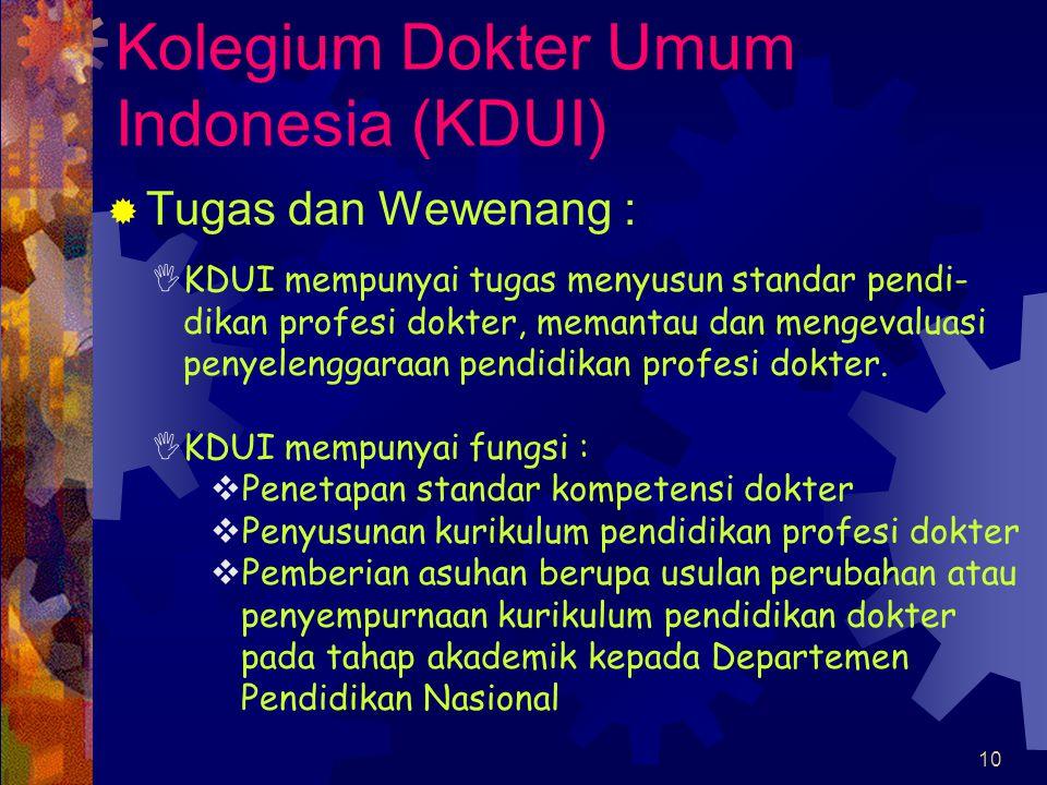Kolegium Dokter Umum Indonesia (KDUI)