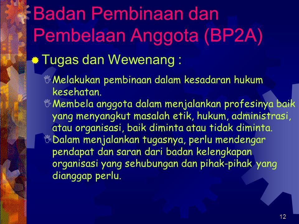 Badan Pembinaan dan Pembelaan Anggota (BP2A)