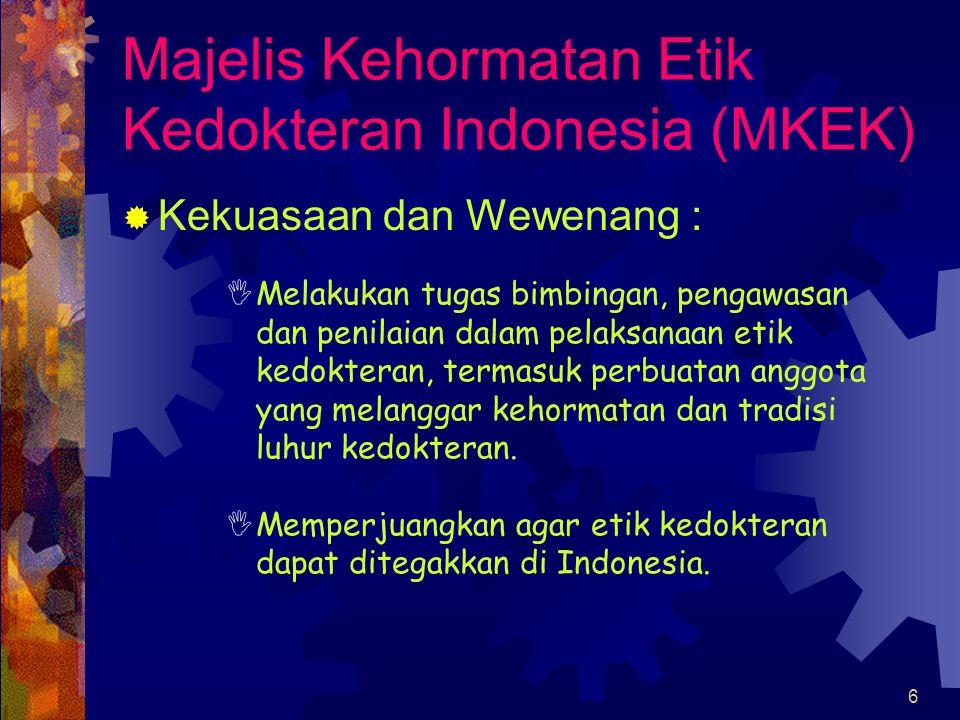 Majelis Kehormatan Etik Kedokteran Indonesia (MKEK)