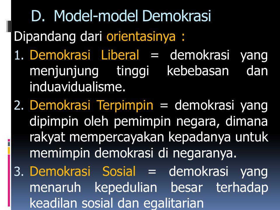Model-model Demokrasi