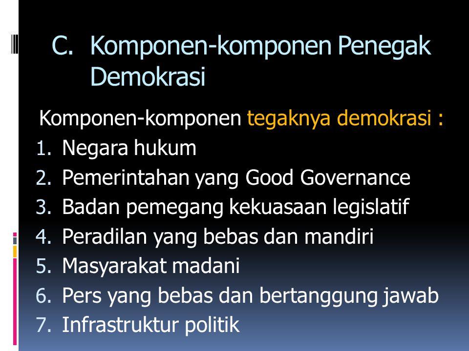 Komponen-komponen Penegak Demokrasi
