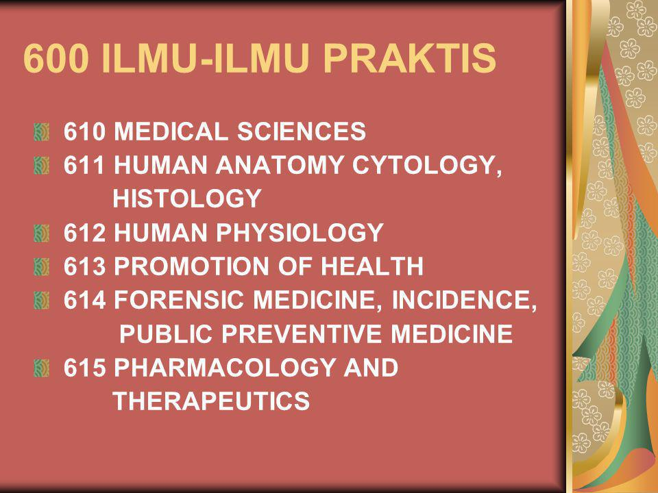 600 ILMU-ILMU PRAKTIS 610 MEDICAL SCIENCES 611 HUMAN ANATOMY CYTOLOGY,