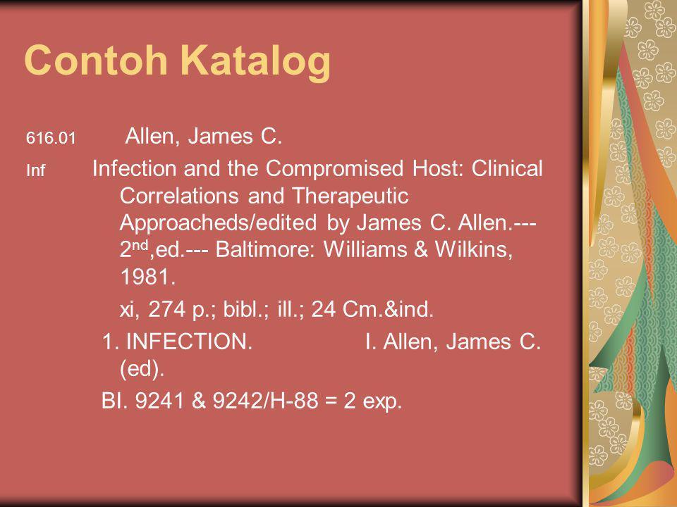 Contoh Katalog xi, 274 p.; bibl.; ill.; 24 Cm.&ind.