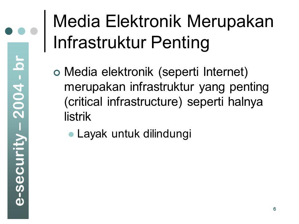 Media Elektronik Merupakan Infrastruktur Penting
