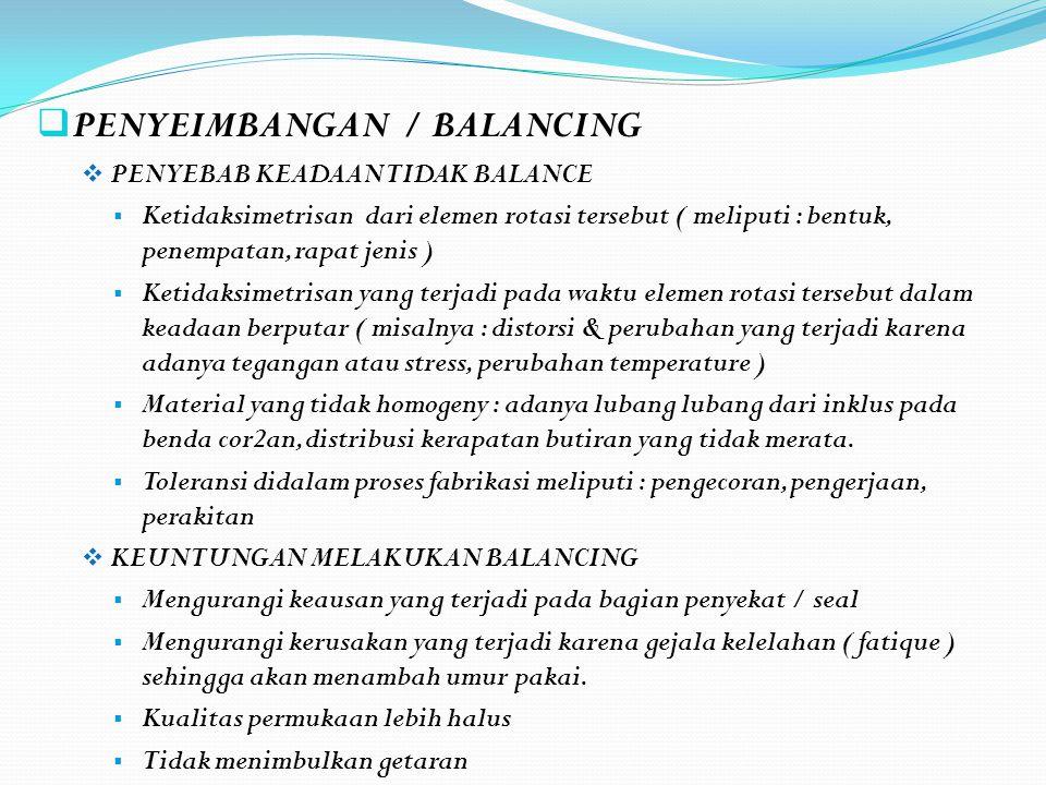 PENYEIMBANGAN / BALANCING