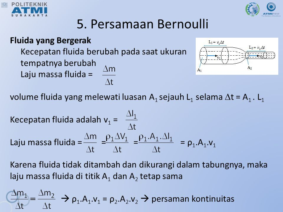 5. Persamaan Bernoulli