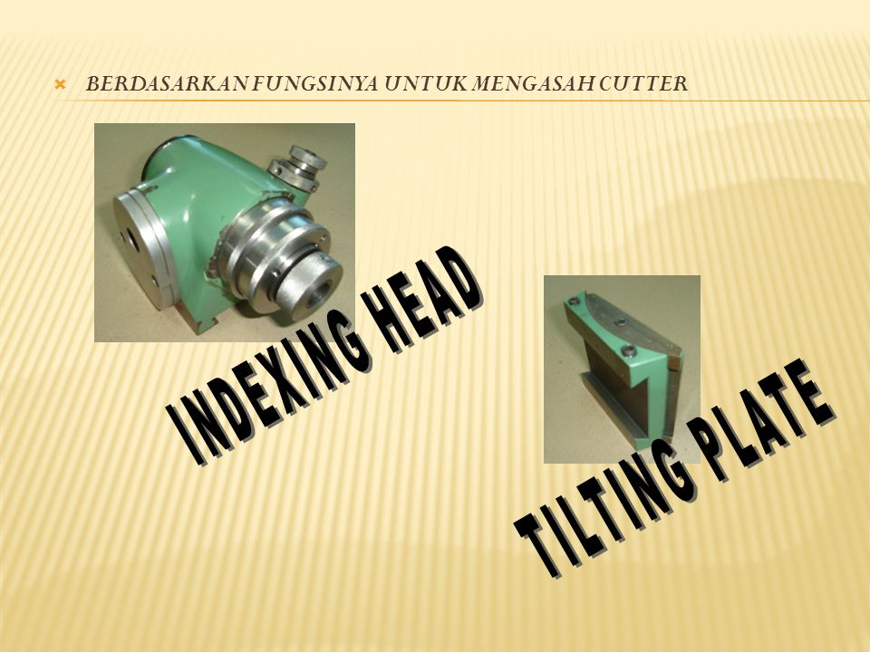 INDEXING HEAD TILTING PLATE