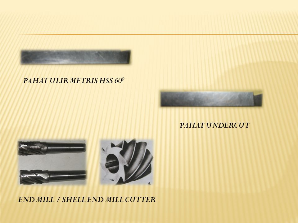 PAHAT ULIR METRIS HSS 600 PAHAT UNDERCUT END MILL / SHELL END MILL CUTTER