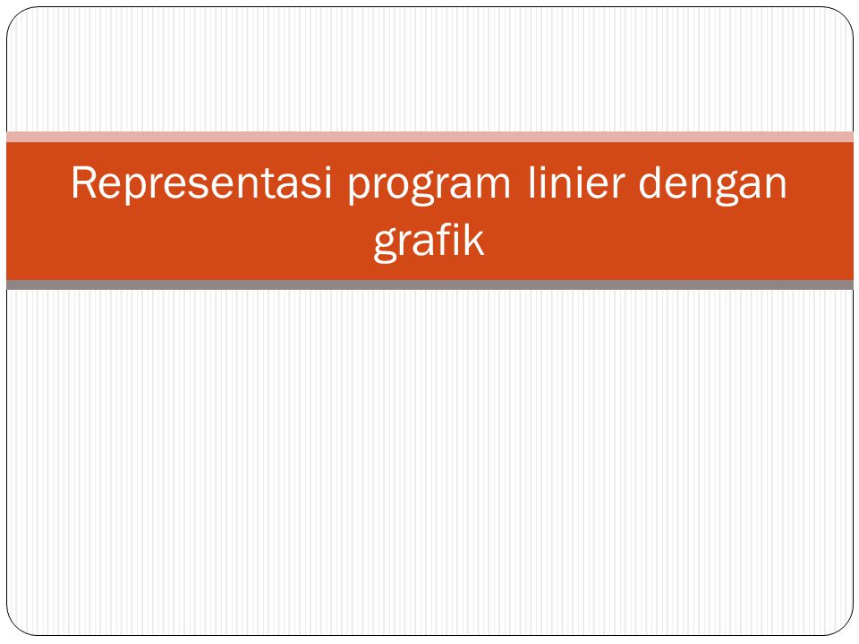 Representasi program linier dengan grafik