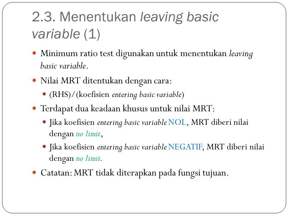 2.3. Menentukan leaving basic variable (1)