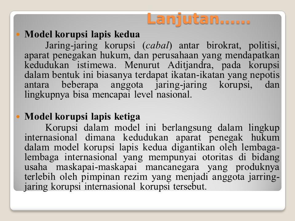 Lanjutan...... Model korupsi lapis kedua