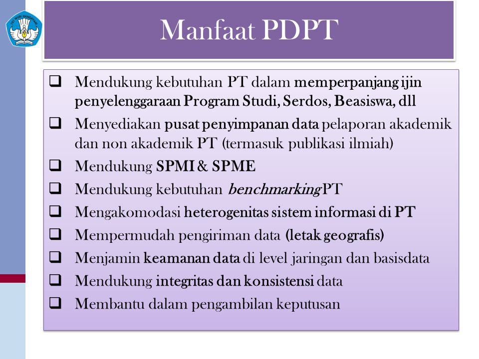 Manfaat PDPT Public Accountability: Internal Accountability