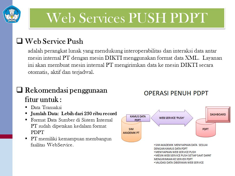 Web Services PUSH PDPT Web Service Push