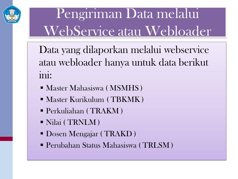 Pengiriman Data melalui WebService atau Webloader