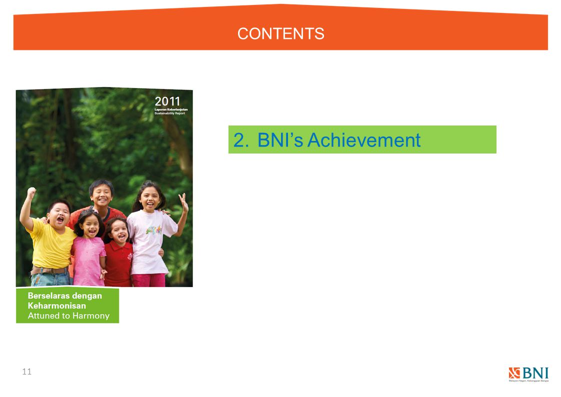 CONTENTS 2. BNI's Achievement